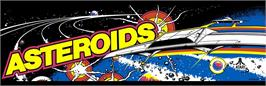 Arcade Cabinet Marquee for Asteroids.
