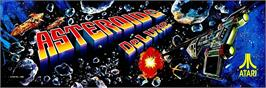 Arcade Cabinet Marquee for Asteroids Deluxe.