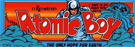 Arcade Cabinet Marquee for Atomic Boy.