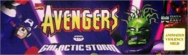 Arcade Cabinet Marquee for Avengers In Galactic Storm.