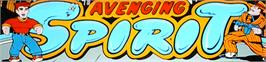 Arcade Cabinet Marquee for Avenging Spirit.