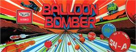 Arcade Cabinet Marquee for Balloon Bomber.