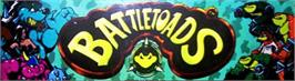 Arcade Cabinet Marquee for Battle Toads.