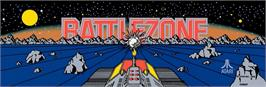 Arcade Cabinet Marquee for Battle Zone.