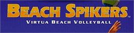 Arcade Cabinet Marquee for Beach Spikers.