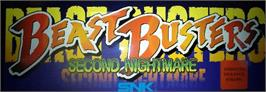 Arcade Cabinet Marquee for Beast Busters 2nd Nightmare.
