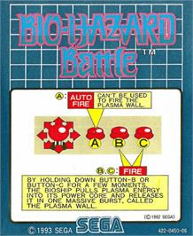 Arcade Cabinet Marquee for Bio-hazard Battle.