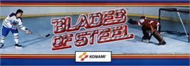 Arcade Cabinet Marquee for Blades of Steel.