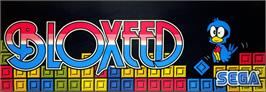 Arcade Cabinet Marquee for Bloxeed.