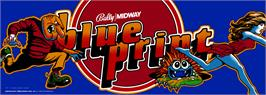 Arcade Cabinet Marquee for Blue Print.