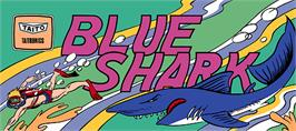 Arcade Cabinet Marquee for Blue Shark.