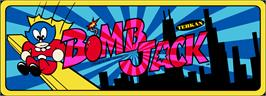 Arcade Cabinet Marquee for Bomb Jack.