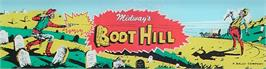 Arcade Cabinet Marquee for Boot Hill.