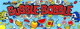 Arcade Cabinet Marquee for Bubble Bobble.