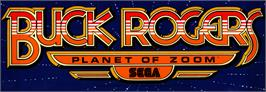 Arcade Cabinet Marquee for Buck Rogers: Planet of Zoom.