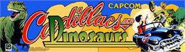 Arcade Cabinet Marquee for Cadillacs and Dinosaurs.