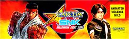 Arcade Cabinet Marquee for Capcom Vs. SNK Millennium Fight 2000.