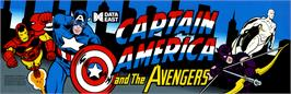 Arcade Cabinet Marquee for Captain America and The Avengers.