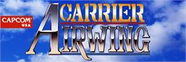 Arcade Cabinet Marquee for Carrier Air Wing.