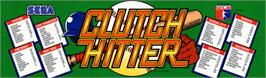 Arcade Cabinet Marquee for Clutch Hitter.