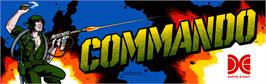 Arcade Cabinet Marquee for Commando.