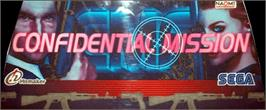 Arcade Cabinet Marquee for Confidential Mission.