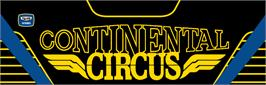 Arcade Cabinet Marquee for Continental Circus.
