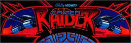 Arcade Cabinet Marquee for Crater Raider.