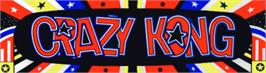 Arcade Cabinet Marquee for Crazy Kong Part II.