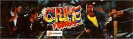 Arcade Cabinet Marquee for Crime Fighters.