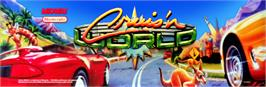 Arcade Cabinet Marquee for Cruis'n World.