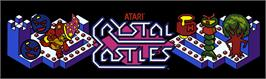 Arcade Cabinet Marquee for Crystal Castles.