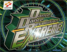 Arcade Cabinet Marquee for Dance Dance Revolution Extreme.