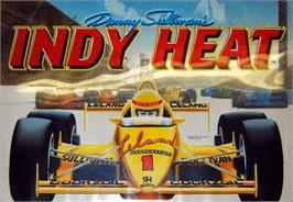 Arcade Cabinet Marquee for Danny Sullivan's Indy Heat.