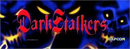 Arcade Cabinet Marquee for Darkstalkers: The Night Warriors.
