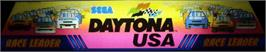 Arcade Cabinet Marquee for Daytona USA.
