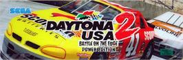 Arcade Cabinet Marquee for Daytona USA 2 Power Edition.