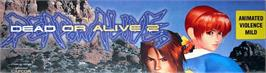 Arcade Cabinet Marquee for Dead or Alive 2 Millennium.