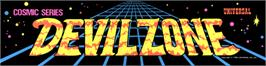 Arcade Cabinet Marquee for Devil Zone.