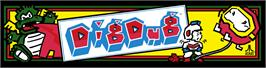 Arcade Cabinet Marquee for Dig Dug.