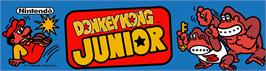 Arcade Cabinet Marquee for Donkey King Jr..