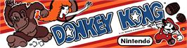 Arcade Cabinet Marquee for Donkey Kong II - Jumpman Returns.
