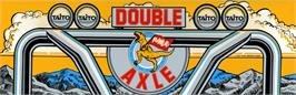 Arcade Cabinet Marquee for Double Axle.