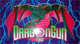 Arcade Cabinet Marquee for Dragon Gun.
