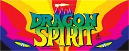 Arcade Cabinet Marquee for Dragon Spirit.