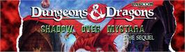 Arcade Cabinet Marquee for Dungeons & Dragons: Shadow over Mystara.