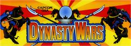 Arcade Cabinet Marquee for Dynasty Wars.