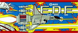 Arcade Cabinet Marquee for E.D.F. : Earth Defense Force.