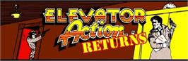 Arcade Cabinet Marquee for Elevator Action Returns.