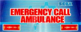 Arcade Cabinet Marquee for Emergency Call Ambulance.